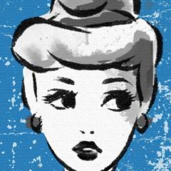 プリンセスシリーズ アートパネル シンデレラ Disney シンデレラ Sサイズ 15cm×15cm lib-4121987s7  /NP 後払い/北欧/インテリア/セール