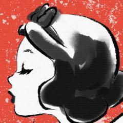 プリンセスシリーズ アートパネル 白雪姫 Disney 白雪姫 Lサイズ 57cm×57cm lib-4121988s8  /NP 後払い/北欧/インテリア/セール/モダン/
