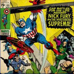 キャプテンアメリカ ファブリックパネル アートパネル MARVEL Captain America Mサイズ 30cm×30cm lib-4122189s1  /NP 後払い/北欧/イン