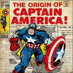 キャプテンアメリカ ファブリックパネル アートパネル MARVEL Captain America Mサイズ 30cm×30cm lib-4122190s1  /NP 後払い/北欧/イン