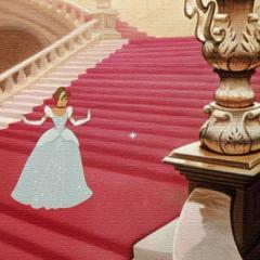 シンデレラ ファブリックボード ディズニープリンセス アートパネル Disney Mサイズ 30cm×30cm lib-4122237s1  /NP 後払い/北欧/インテ