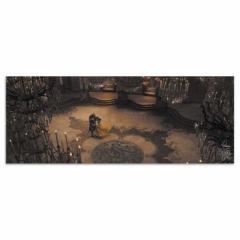 美女と野獣 ファブリックパネル ディズニー dsny-w-1701-06 ワイドサイズ アートパネル アートデリ ワイドサイズ 30cm×78.5cm lib-53649
