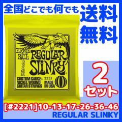 ERNIE BALL(アーニーボール) #2221×2セット REGULAR SLINKY[10-46]/ 定番エレキギター弦(セット弦)/ スリンキーシリーズ・レギュラー