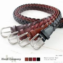 ベルト メンズ レディース ヴィンテージレザー 本革ベルト Hawk Company ホークカンパニー【1485】