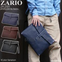 クラッチバッグ メンズ セカンドバッグ 薄マチ ショルダーバッグ 鞄 バッグ 2WAY ストラップ付き ZARIO ザリオ【ZA-2501】