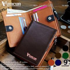 財布 二つ折り財布 メンズ 本革 L字ファスナー 大容量 サイフ さいふ コンパクト ギフト VACUA ヴァキュア 【VA-6620】