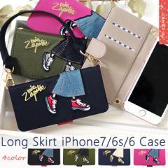 iPhoneケース レディース 手帳型 足柄 2way スマホケース iPhone7/6s/6対応 mis zapatos ミスサパト【B-6595】