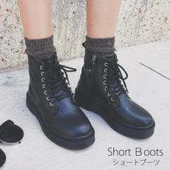 【ショートブーツ】 レディース 編み上げブーツ レースアップブーツ おじ靴 ひも靴 [即]【HIT】