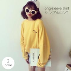 ロンT カトッソー トップス 韓国 ファッション レディース   ベーシック 大人 イエロー ホワイト [即] csale[セール]