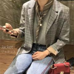 【売り切り特価】秋 新作 きれいめ ジャケット チェック柄 おしゃれ グレンチェック ジャケット  [即] csale[セール]