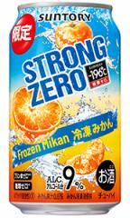 サントリー −196℃ ストロングゼロ 冷凍みかん 350ml缶 バラ 1本【限定】
