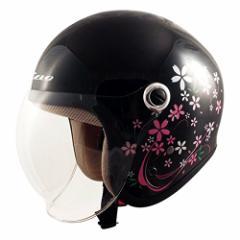 TNK工業 スピードピット ジェット型ヘルメット GS-6 サクラブラック サイズ:LADYS FREE(57-58cm未満) 51198.0