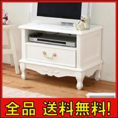 【送料無料!ポイント2%】姫系 キャッツプリンセス duo テレビ台 幅60  花のレリーフのついた猫脚のかわいいシリーズ。