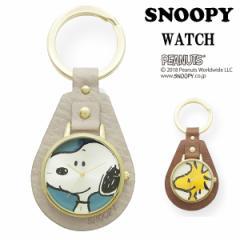 SNOOPY スヌーピー 時計 ウッドストック レディース キーチェーン レザーKC フィールドワーク