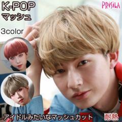 ウィッグ ショート フルウィッグ K-POPマッシュ グラデーションカラーウィッグ プリシラ CTA-200 耐熱 ウイッグ かつら|韓国 韓流 アイド