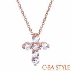 C-BA STYLE (シーバスタイル) ~First ファースト~ ネックレス 十字架 ピンクゴールド カラー メール便