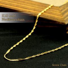 K18(18金) ゴールドチェーン ダブル スクリューチェーン k18 ネックレス スクリュー レディース ネックレス 送料無料 母の日