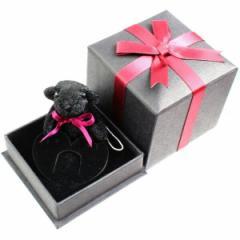 ネックレス リング 指輪 ケース ジュエリー ボックス BOX クマストラップ付 ブラック ga-090 送料無料 クリスマス