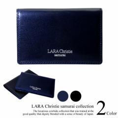 LARA Christie ララクリスティー samurai カードケース 名刺入れ 本革  送料無料 クリスマス