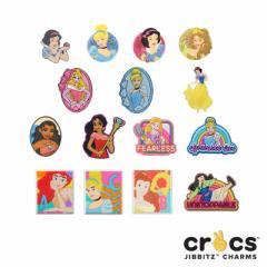 【メール便可】クロックス(CROCS) ジビッツ(Jibbitz) ディズニー プリンセス(Disney Princess) [RED][AA]