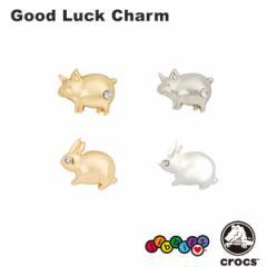 【メール便可】クロックス(CROCS)ジビッツ(jibbitz) グッドラック チャーム(Good Luck Charm)[BLK][AA]