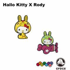 【メール便可】クロックス(CROCS)ジビッツ(jibbitz)ハロー キティ × ロディ(hello kitty × rody) [YEL][AA]