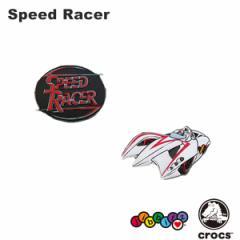 【メール便可】クロックス(CROCS)ジビッツ(jibbitz) スピード レーサー(Speed Racer)[YEL][AA]