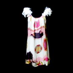 Amour de Pin up アムールドピンナップ フラワーフリルカットソー (チュニックワンピース ドレス パーティ フェミニン フランス) 114510