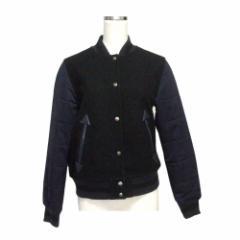 G.V.G.V.×UNIQLO ジーブイジーブイ×ユニクロ 袖切り替えスタジャン (黒 紺 ジャケット ブルゾン) 116407【中古】