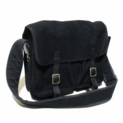 national standard ナショナルスタンダード レザー×ウールショルダーバッグ (黒 皮 革 鞄 ) 118557 【中古】