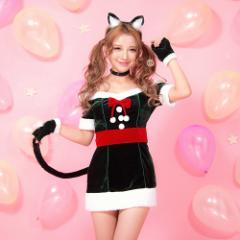 Malymoon(マリームーン)小悪魔キャットサンタ 7点セットXmas xmas 猫 アニマル キャット サンタクロース 即日発送 ミニ コスプレ 猫