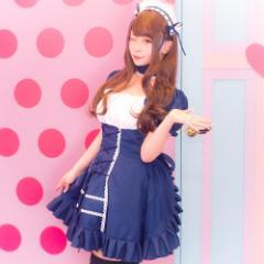 【即日発送】メイド 2点セットハロウィン コスプレ コスチューム 衣装 セクシー メイド 可愛い インスタ ワンピ ペア ウェイトレス