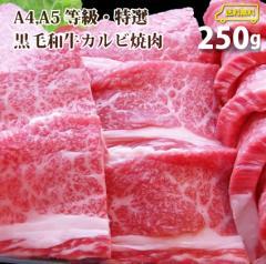お中元 ギフト 【送料無料】A4,A5ランク特選黒毛和牛カルビ焼肉 250g【複数購入でオマケ付】