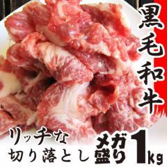 お中元 ギフト 【送料無料】黒毛和牛!贅沢・霜降り切り落としたっぷりメガ盛り1kg 和牛 切り落とし 訳あり 国産 牛 牛肉 1kg 牛肉