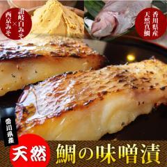 【冷凍】香川県産・天然鯛の味噌漬け(12時までの御注文で当日発送、土日祝を除く)たい タイ 魚 焼魚
