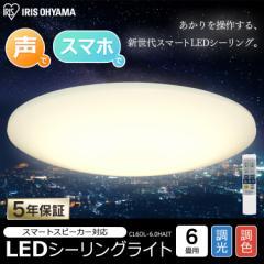 LEDシーリングライト 6.0 薄型タイプ 6畳 調色 AIスピーカーRMS CL6DL-6.0HAIT アイリスオーヤマ 送料無料