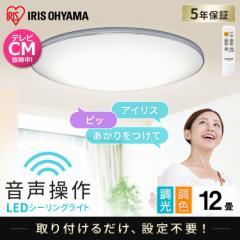 LEDシーリングライト 6.1 音声操作 モールフレーム 12畳 調色 CL12DL-6.1MUV アイリスオーヤマ 送料無料