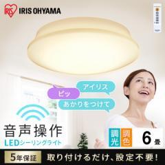 シーリングライト 6畳 調色 LEDシーリングライト 5.11 音声操作 プレーン スマートスピーカー LED 天井照明 照明 ライト 照明器具 照明機