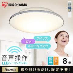シーリングライト 8畳 調色 LEDシーリングライト 5.11 音声操作 モールフレーム スマートスピーカー 天井照明 照明 ライト 照明器具 照明