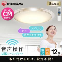 LEDシーリングライト 6.1 音声操作 クリアフレーム 12畳 調色 CL12DL-6.1CFUV アイリスオーヤマ 送料無料