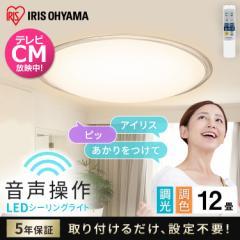 LEDシーリングライト 5.11 音声操作 クリアフレーム 12畳 調色 CL12DL-5.11KCFV アイリスオーヤマ 送料無料