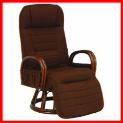 ギア付き回転座椅子 ブラウン RZ-1258BR 萩原 (代引不可) プラザセレクト 送料無料
