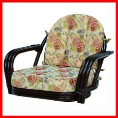 回転座椅子 ダークブラウン RZ-931DBR 萩原 (代引不可) プラザセレクト 送料無料