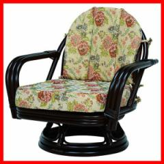 回転座椅子 ダークブラウン RZ-932DBR 萩原 (代引不可) プラザセレクト 送料無料