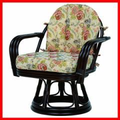 回転座椅子 ダークブラウン RZ-933DBR 萩原 (代引不可) プラザセレクト 送料無料