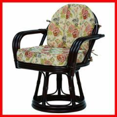 回転座椅子 ダークブラウン RZ-934DBR 萩原 (代引不可) プラザセレクト 送料無料