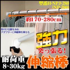 【お得な2本セット】 突っ張り棚 幅170〜280cm つっぱり棒 すき間収納 目隠し 強力伸縮棒 H-NPJ-280 アイリスオーヤマ 送料無料