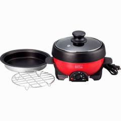 家電 メリート パーソナル グリルパン ホットプレート 蒸し器 すき焼き鍋