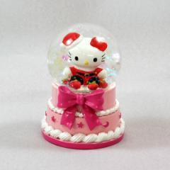 スノードームハローキティ45mmドーム(ケーキ)クリスマス 置物 キャラクター