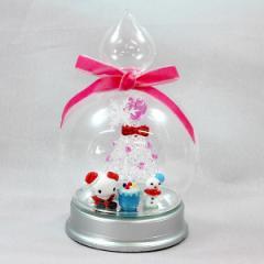 クリスマスオブジェハローキティドーム(スノーマンA)置物 キャラクター かわいい